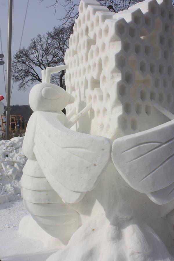 Śnieżnej rzeźby Krajowa rywalizacja - Jeziorny Genewa, WI obrazy stock