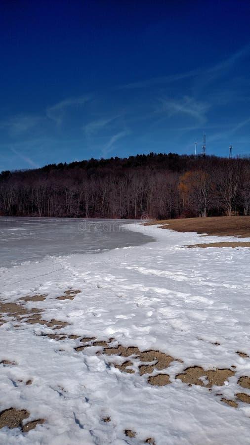 Śnieżni jeziora fotografia royalty free