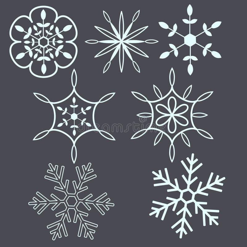 Śnieżni płatki ilustracja wektor