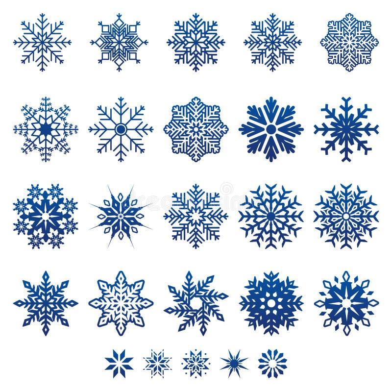 Śnieżni płatki ilustracji