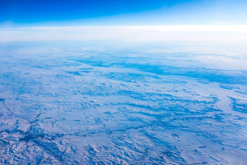 Śnieżni pola obrazy stock
