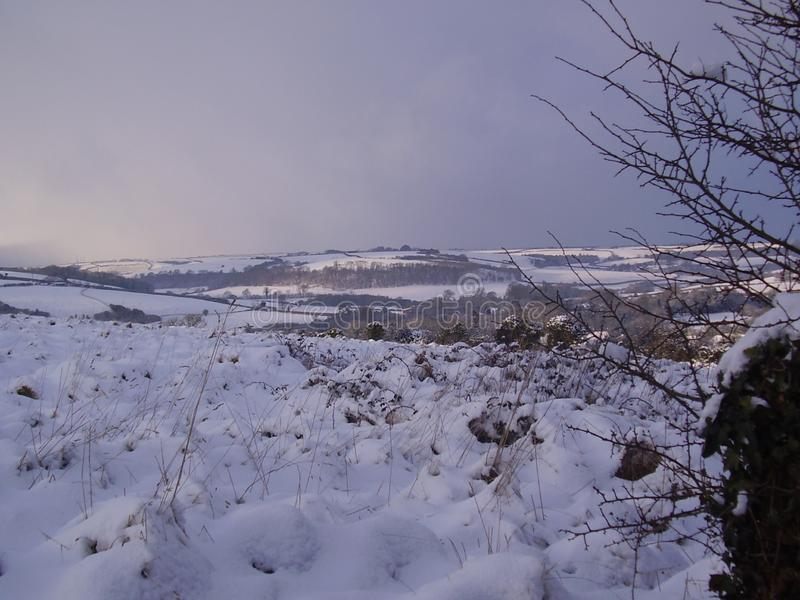Śnieżni wzgórza w Dorset Żadny 2 zdjęcia royalty free