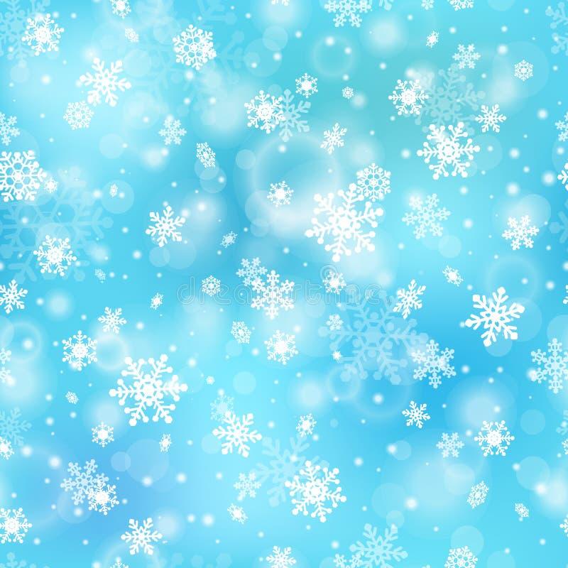 Śnieżny bezszwowy wzór ilustracja wektor