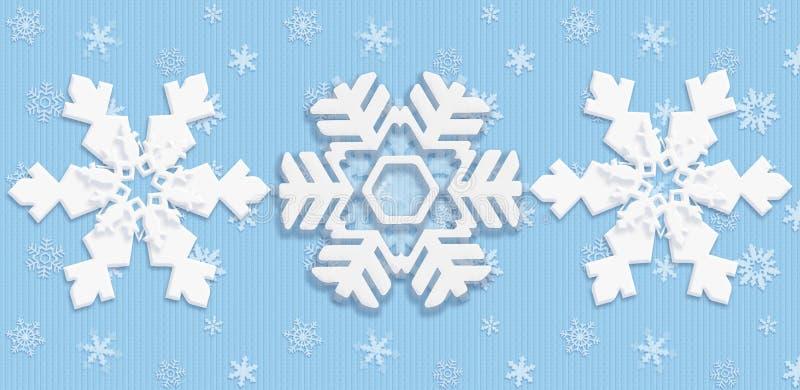 Śnieżny Bożenarodzeniowy plakat ilustracja wektor
