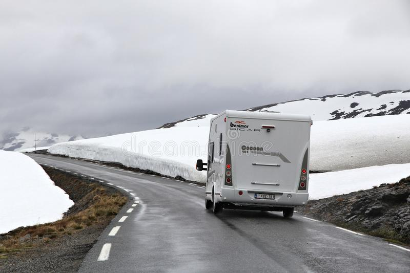 Śnieżny droga wakacje zdjęcie stock