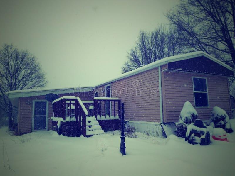 Śnieżny dzień obrazy royalty free