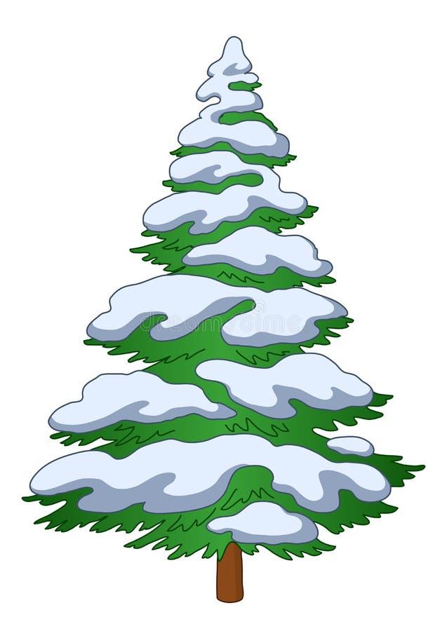 śnieżny futerka drzewo royalty ilustracja