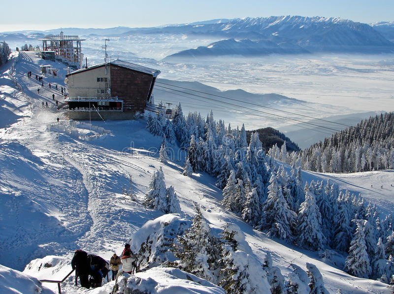 śnieżny góra wierzchołek obrazy royalty free