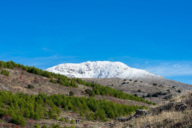 Śnieżny góra wierzchołek na słonecznym dniu zdjęcie stock