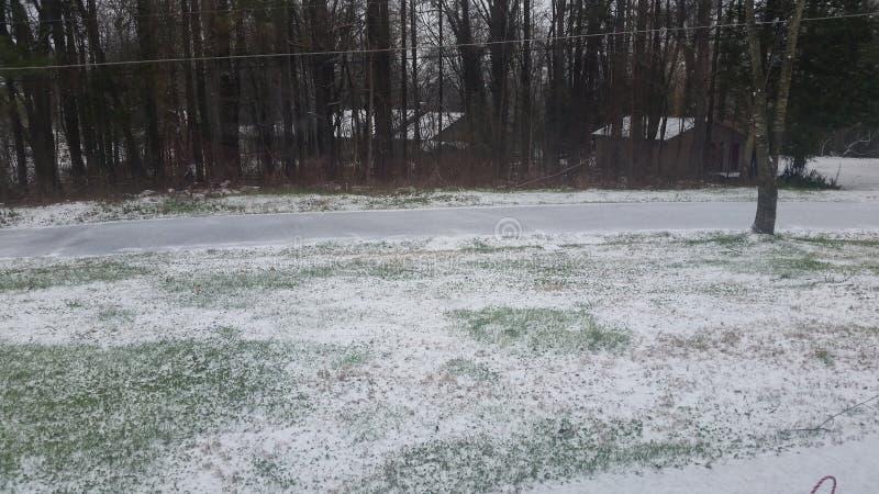 Śnieżny jard obrazy royalty free