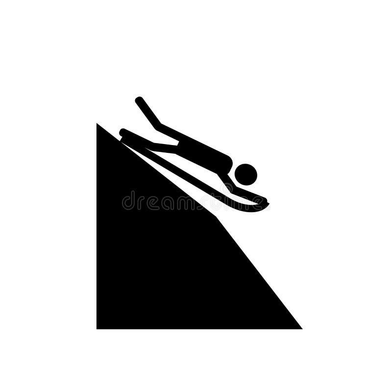 Śnieżny obruszenie strefy ikony wektor odizolowywający na białym tle, Śnieżny obruszenie strefy znak ilustracja wektor