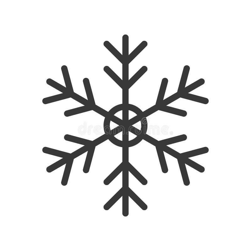 Śnieżny płatek, Wesoło boże narodzenia odnosić sie ikona set, wypełniający konturu des ilustracji