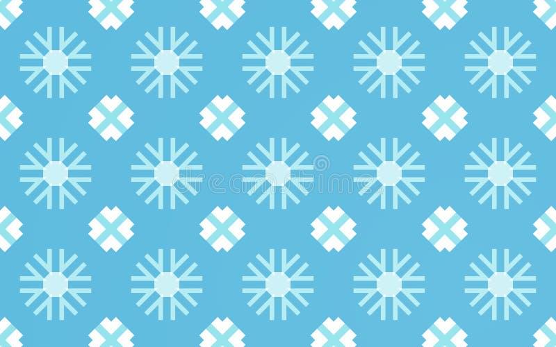 Śnieżny płatka wzoru tło ilustracji