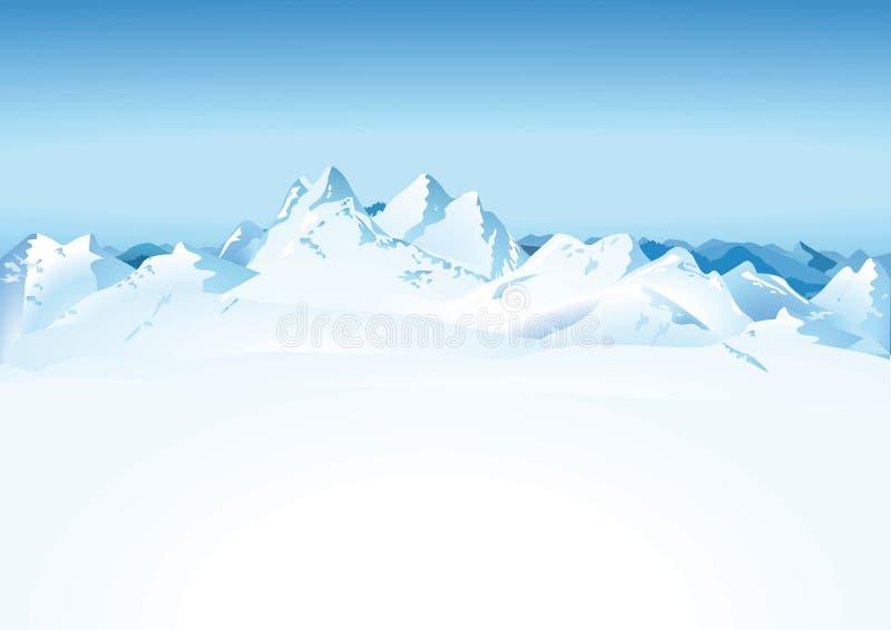 Śnieżny pasmo górskie ilustracja wektor