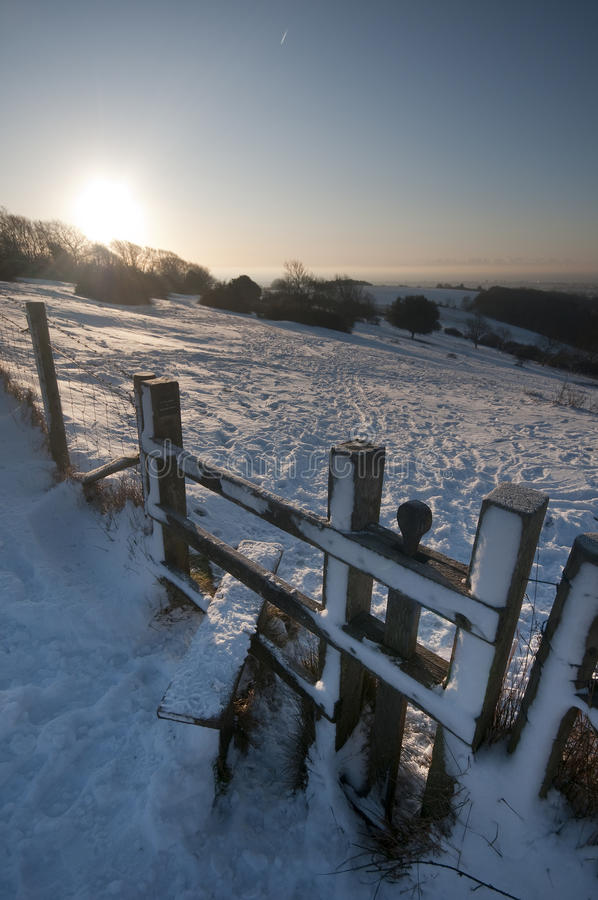 śnieżny przełaz zdjęcia stock
