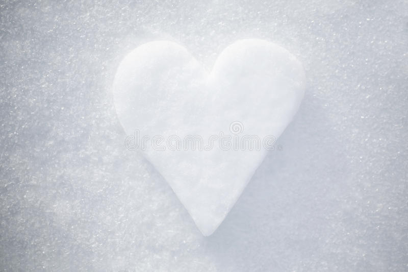 Śnieżny serce fotografia royalty free