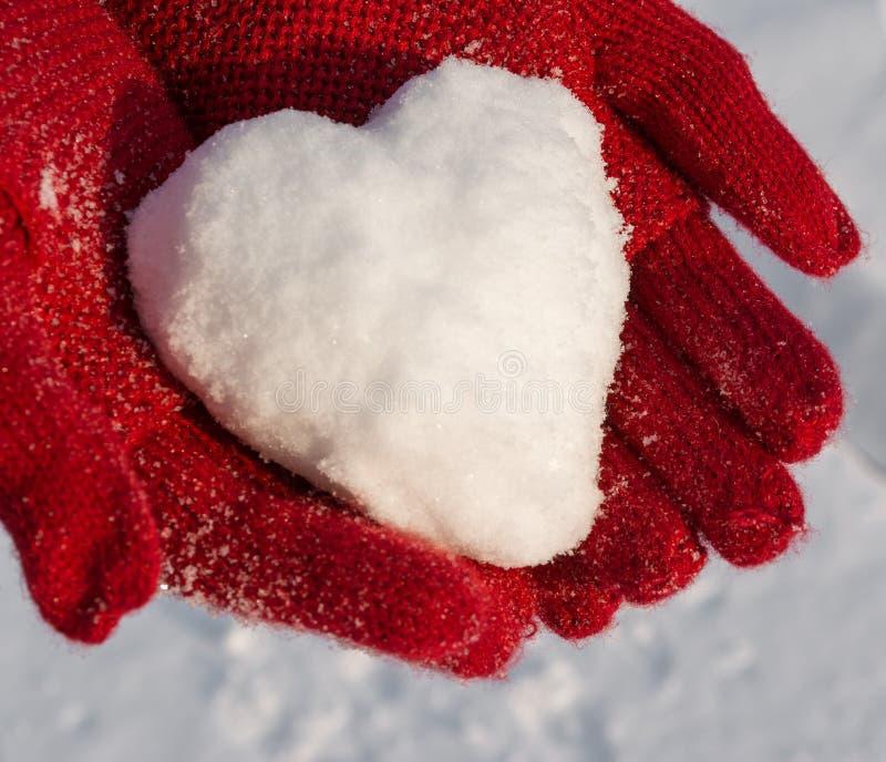 Śnieżny serce obraz royalty free