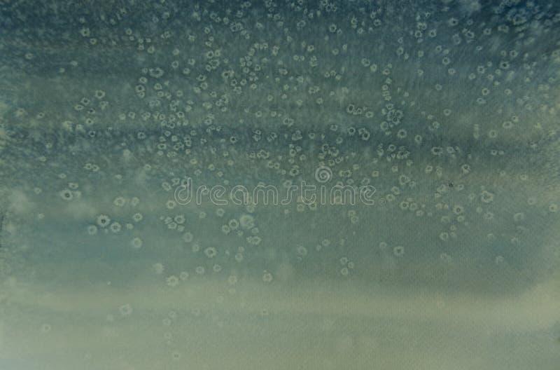Śnieżny spadek, akwarela obraz obraz royalty free
