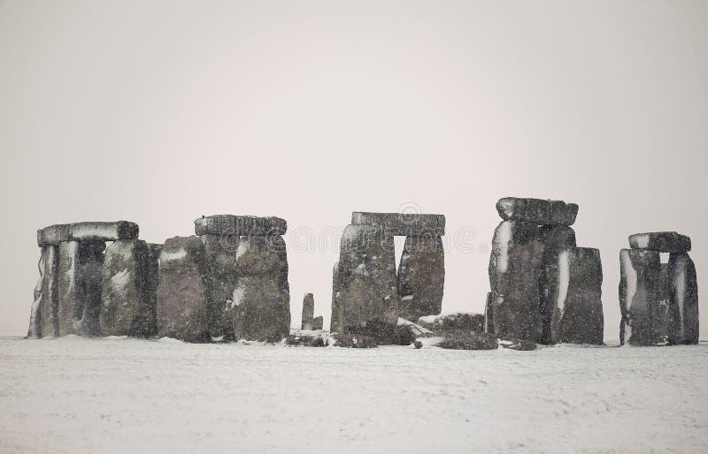 śnieżny stonehenge zdjęcia royalty free