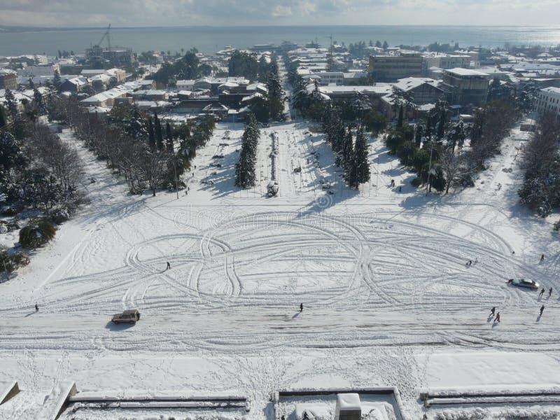 śnieżny Sukhumi zdjęcie stock