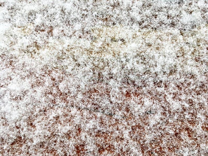 Śnieżny tło, biała abstrakcjonistyczna tekstura kosmos kopii Odgórny widok Zima projekt obraz royalty free