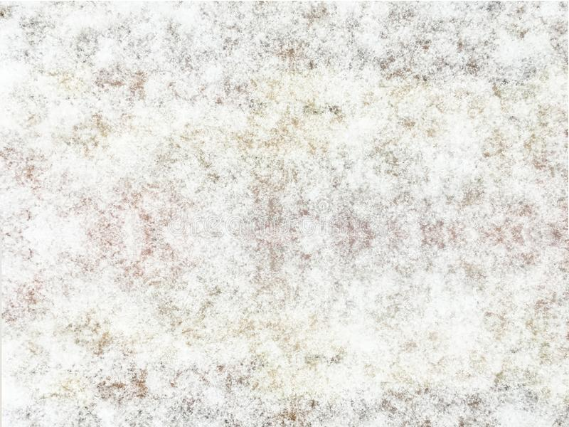 Śnieżny tło, biała abstrakcjonistyczna tekstura kosmos kopii Odgórny widok Zima projekt obrazy royalty free