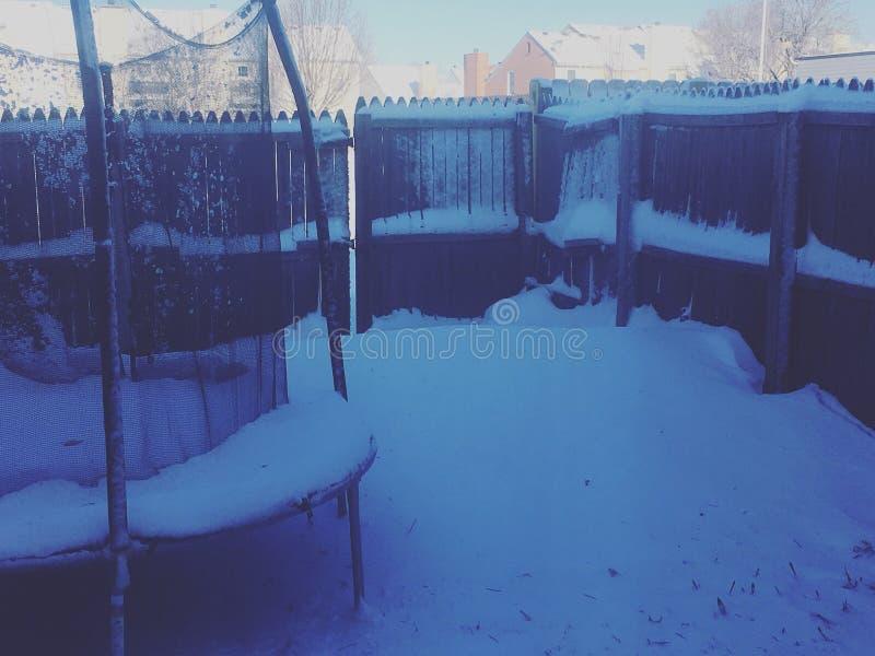śnieżny trampoline obraz royalty free