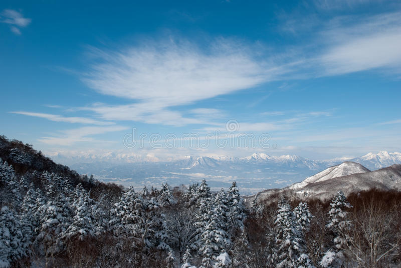 śnieżny widok fotografia royalty free