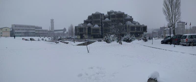Śnieżny widok obrazy royalty free