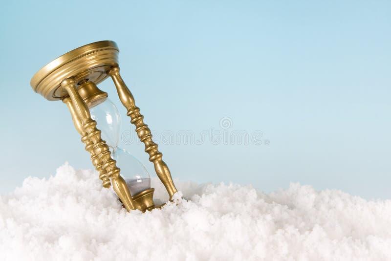śnieżny zegar fotografia royalty free