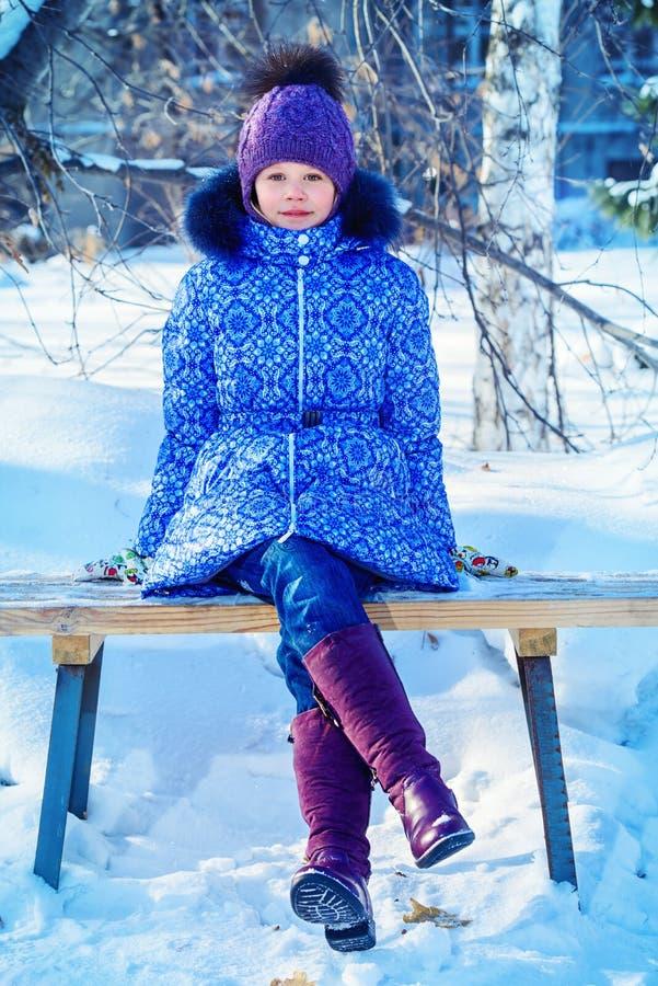 Śnieżny zima park fotografia stock
