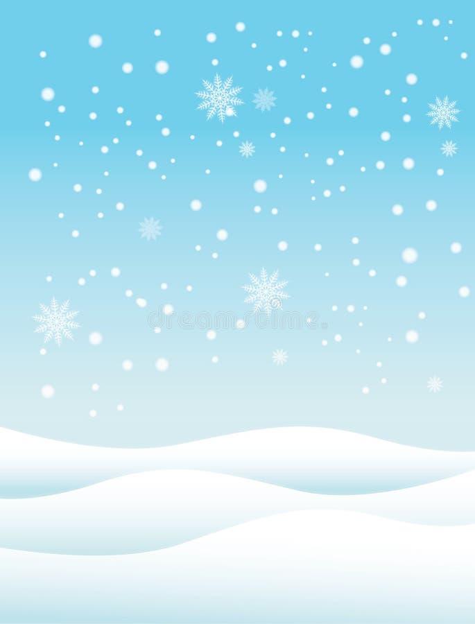 Śnieżny zimy tło royalty ilustracja