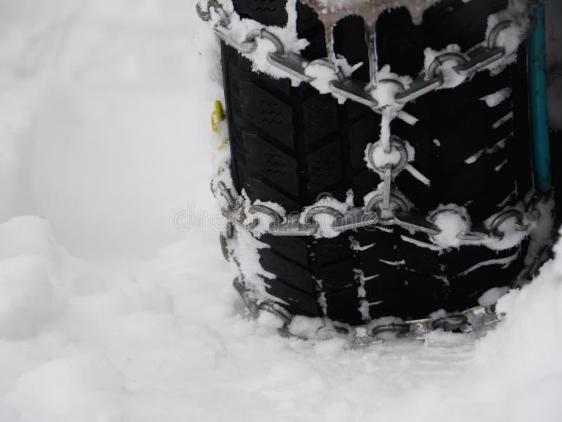 Śnieżnych łańcuchów zima obrazy stock