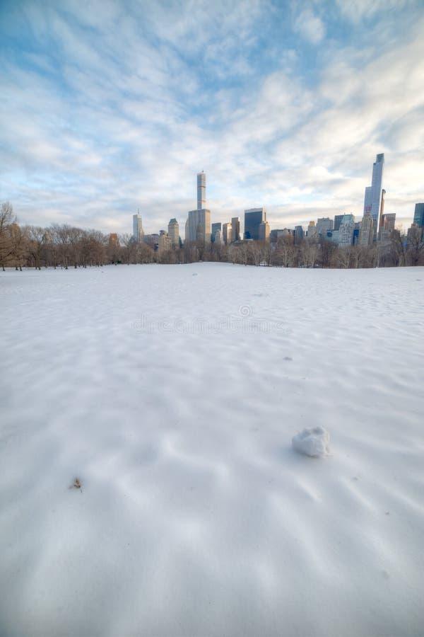 Śnieżysta Barania łąka - central park zdjęcie royalty free