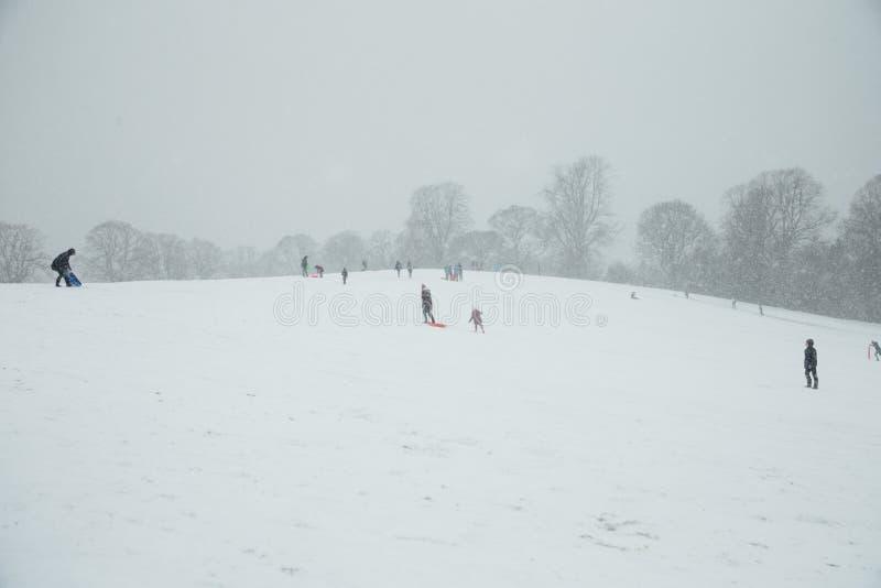 śniegów TARGET474_0_ ludzie obraz stock