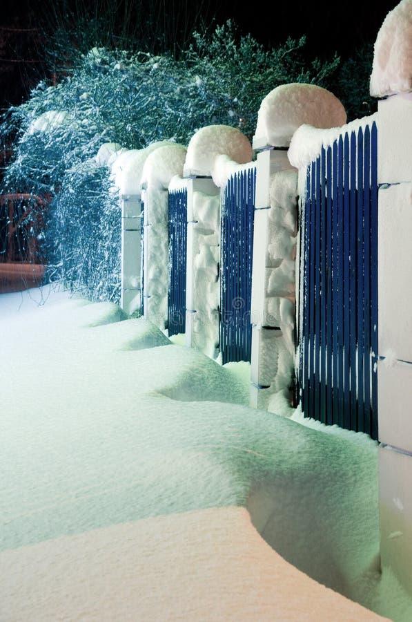 Śnieg ściany obraz stock