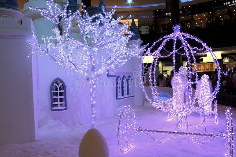 Śnieg domowa dekoracja zdjęcie stock