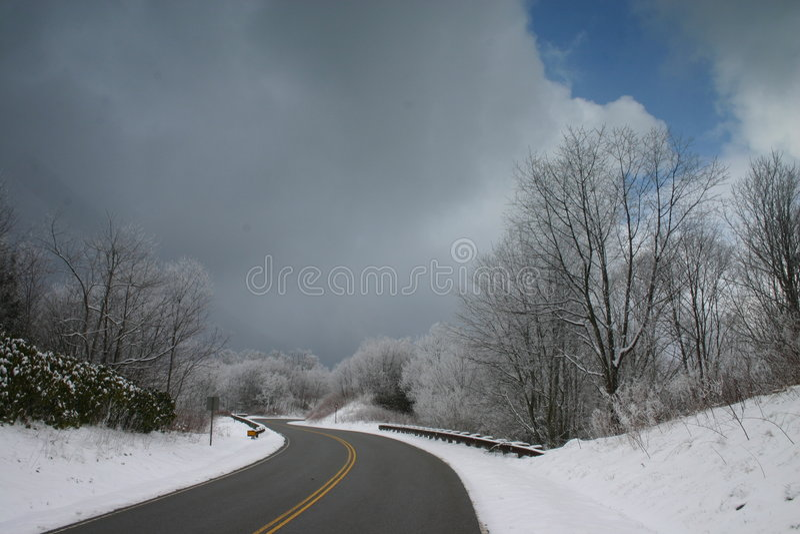 śnieg drogowy obraz stock