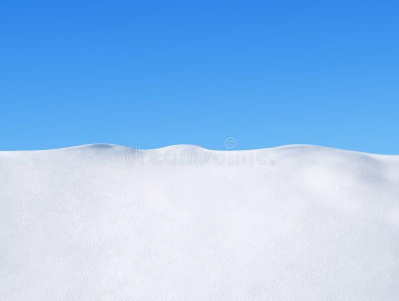 Śnieg i niebo obraz stock