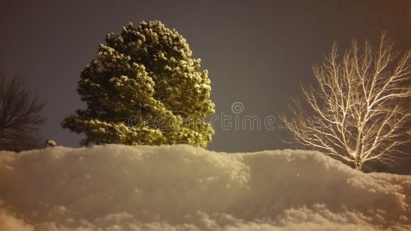 Śnieg i niebo zdjęcie stock