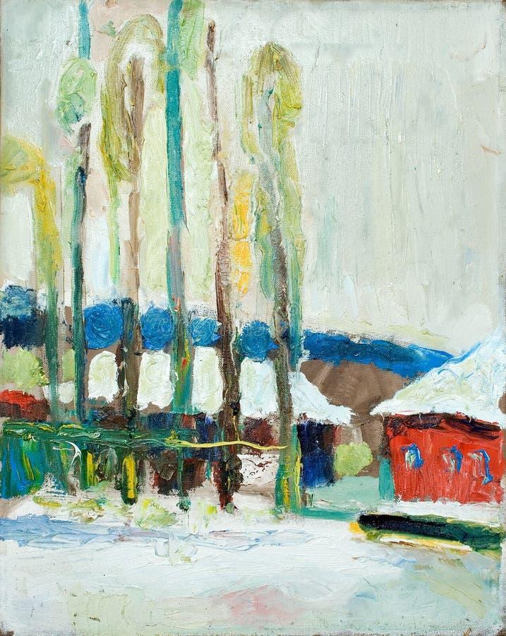 śnieg jesieni ilustracja wektor