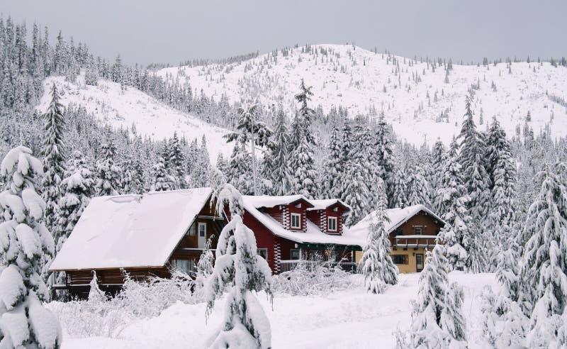 śnieg kabin zdjęcie royalty free