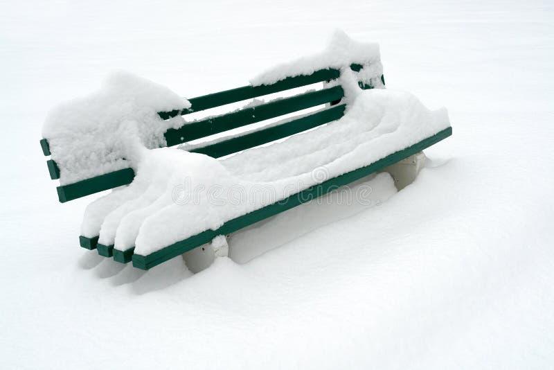 śnieg na stanowisku badawczym zdjęcia stock