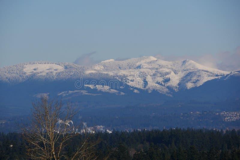 Śnieg Na wzgórzach w Oregon obrazy stock