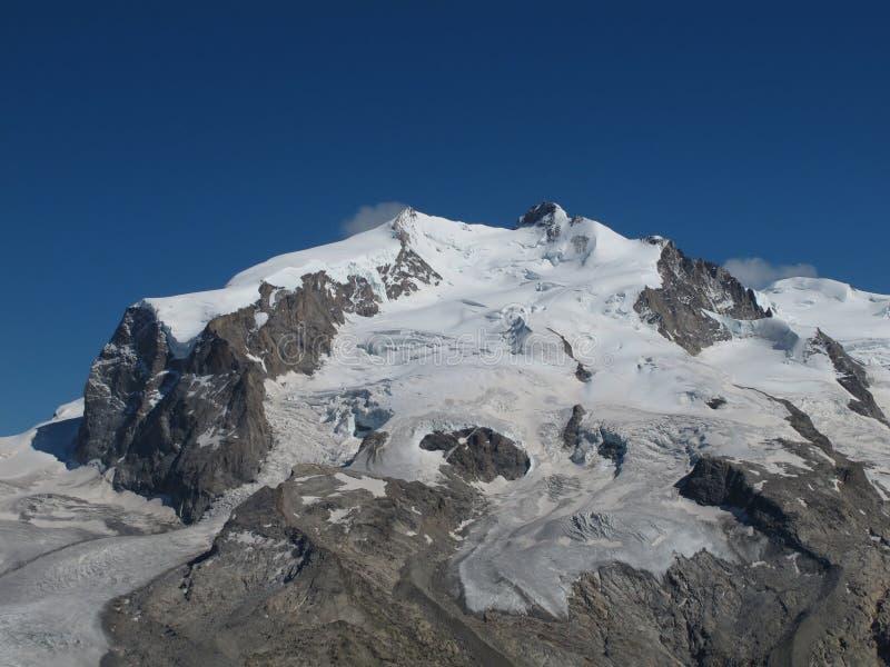 Śnieg nakrywający Monte Rosa obrazy royalty free