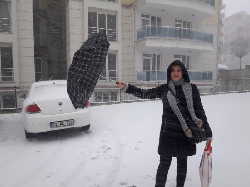 Śnieg od Edirne zdjęcia royalty free