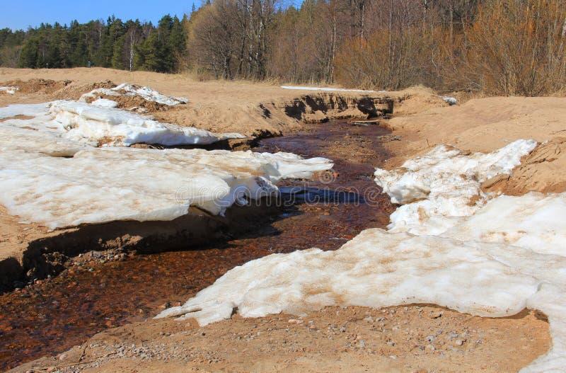 Śnieg pięć i piasek zdjęcie stock