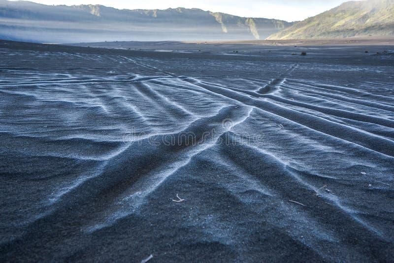 Śnieg przy morzem piasek obraz stock