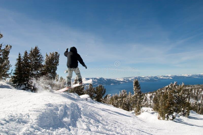 śnieg skokowy graniczny zdjęcia stock