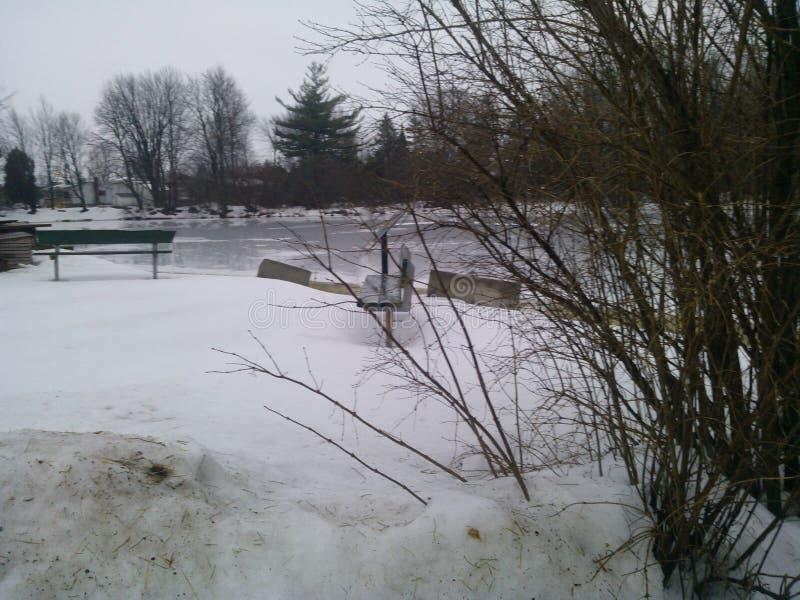 śnieg topnienia zdjęcia stock